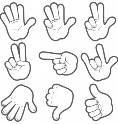 Cartoon hands vector