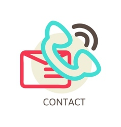 Contact us icon - e-mail and phone vector