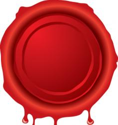 wax seal vector image
