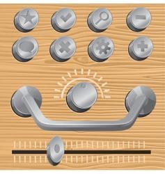 Metal design elements vector