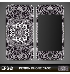 Phone case design vintage decorative elements vector