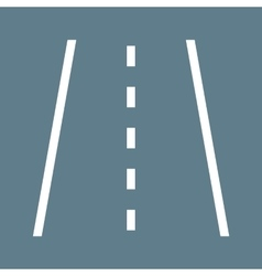 Paved road vector
