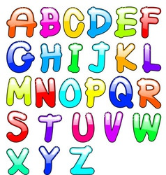 Childish alphabet vector