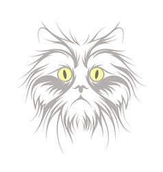 Furry cat vector