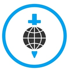 Global safety icon vector