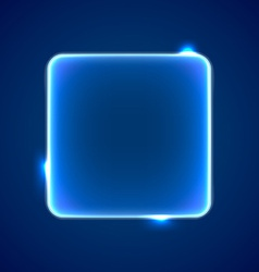 Abstract blue square placeholder vector image vector image