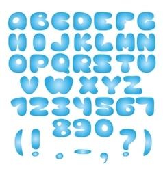 Air blue alphabet vector