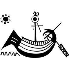 Ancient greek boat vector