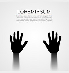 black pair of hands silhouette vector image vector image