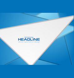 blue and grey polygonal tech corporate background vector image