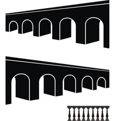 bridge black silhouettes vector image