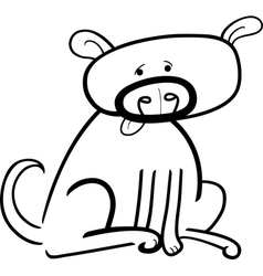 cartoon doodle of dog for coloring vector image vector image
