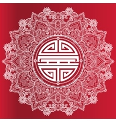 Chinese longevity good luck mandala vector