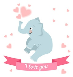 Drawn by animal elephant declaration of love vector