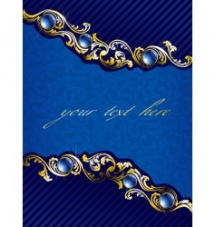 elegant gold and blue background vector image vector image