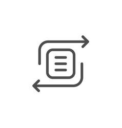 exchange line icon vector image vector image