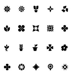 Flowers icons 2 vector