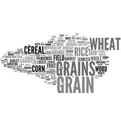Grains word cloud concept vector