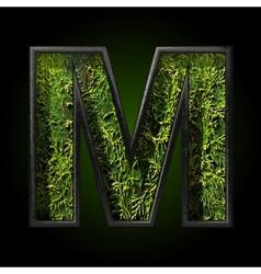 Grass cutted figure m vector