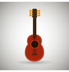 guitar isolated design vector image vector image