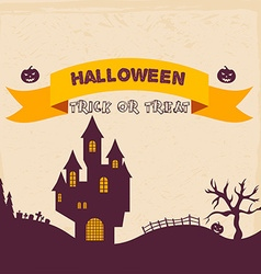 Halloween badges and labels in vintage style vector