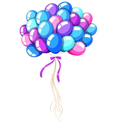 Helium balloons tied with ribbon vector image vector image