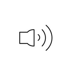 high volume button icon vector image