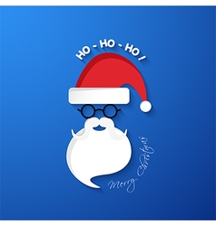 HO HO HO Merry Christmas vector image