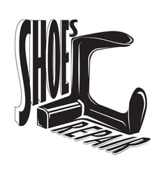 Hoes shop shoes repair vector