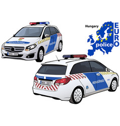 hungary police car vector image