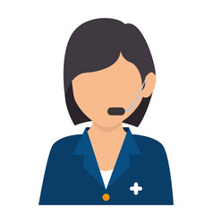 Medical call center agent vector