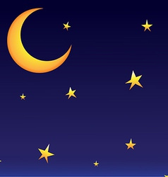 moon whit stars vector image vector image