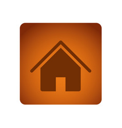 orange emblem house icon vector image