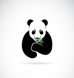 Panda design on a white background vector