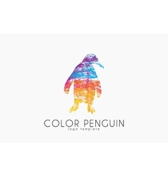 Penguin logo Color penguin design Creative logo vector image vector image