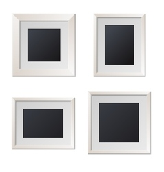 Realistic White Picture Frames with Blank Center vector image vector image