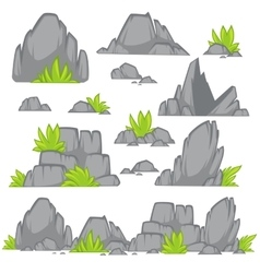 Rock stone cartoon flat style vector