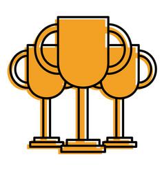 set of trophy award prize winner vector image
