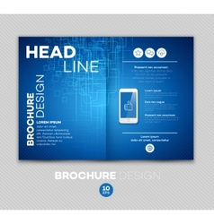 Template for brochure vector image vector image