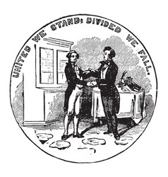 The official seal of the us state of kentucky in vector
