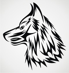 Wolf Head Tattoo Design vector image vector image