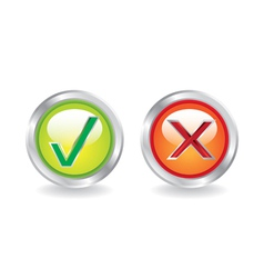 Yes no icons vector