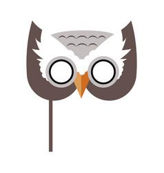 Owl bird carnival mask childish masquerade element vector