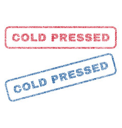 Cold pressed textile stamps vector