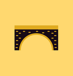Brick bridge arch architecture building monument vector