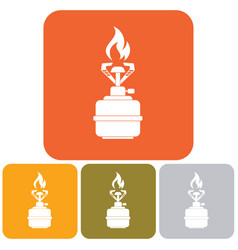 Camping stove icon vector