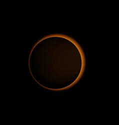 sun eclipse solar realistic vector image