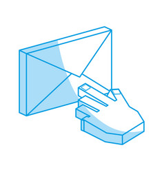 email symbol 3d vector image