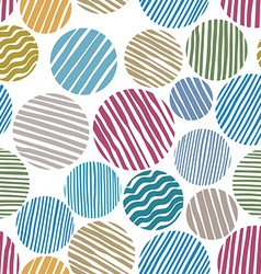 Lined circles seamless pattern vector