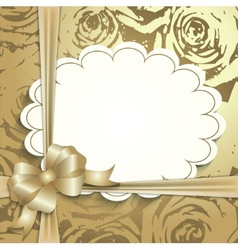 Gift card ribbon place for text vector